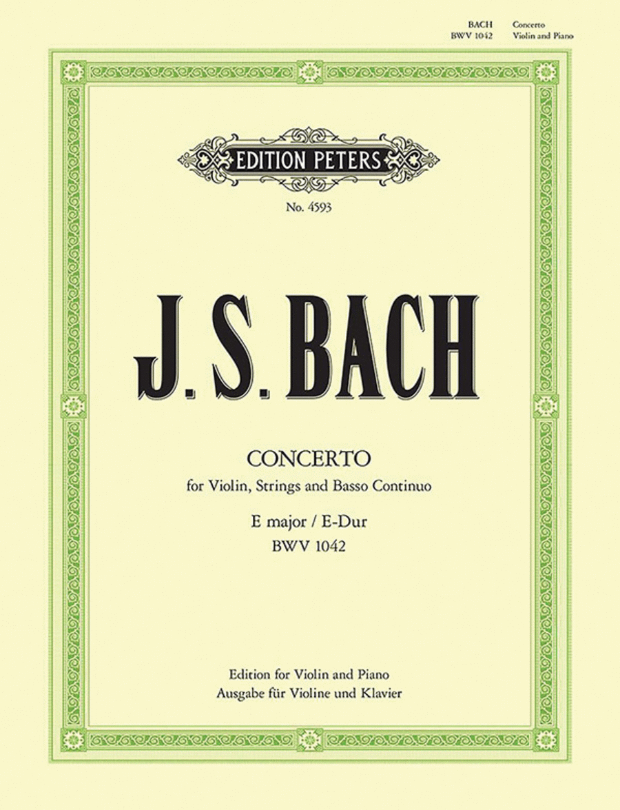Violin Concerto No. 2 in E Major BWV 1042