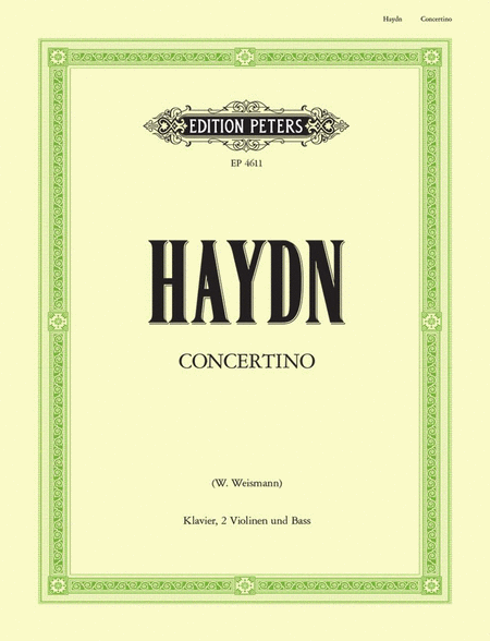Concertino (Divertimento) in C Hob.XIV/3