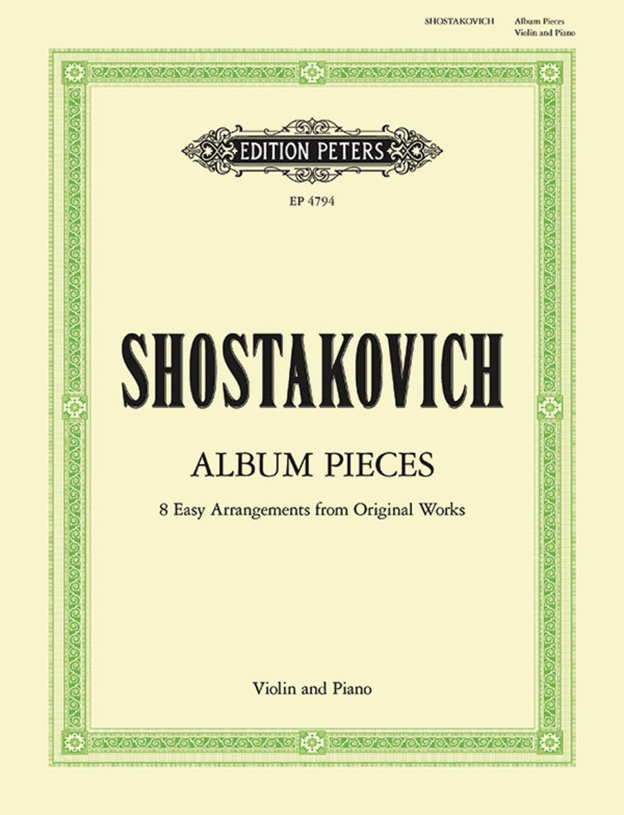 Album Pieces for violin and piano