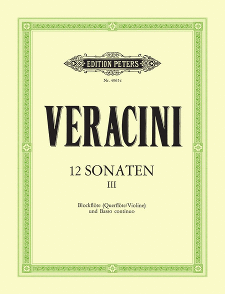 12 Sonatas Op.1 Vol.3