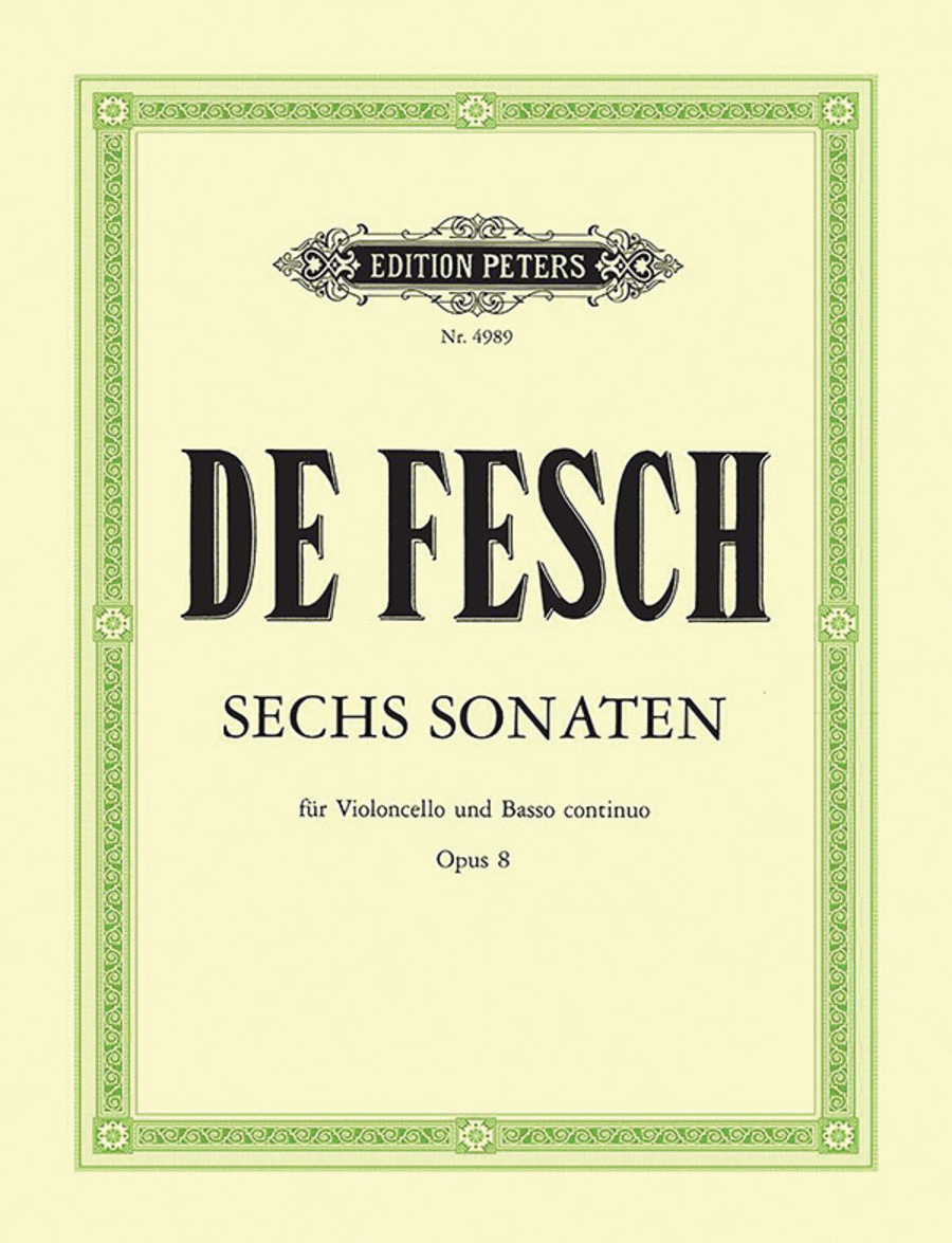 6 Cello Sonatas Op.8