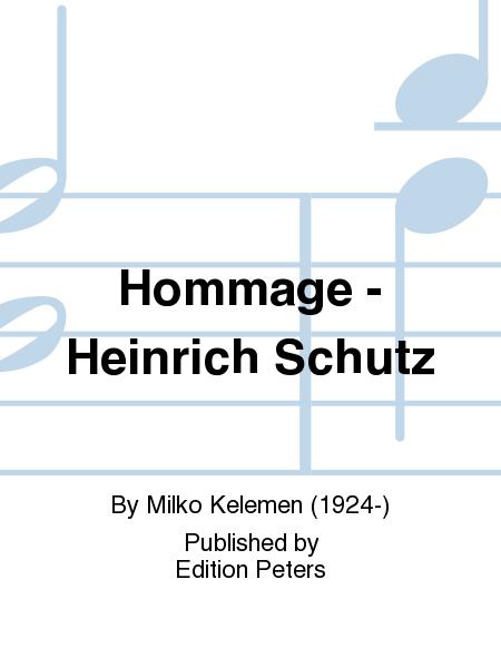 Hommage e Heinrich Schutz