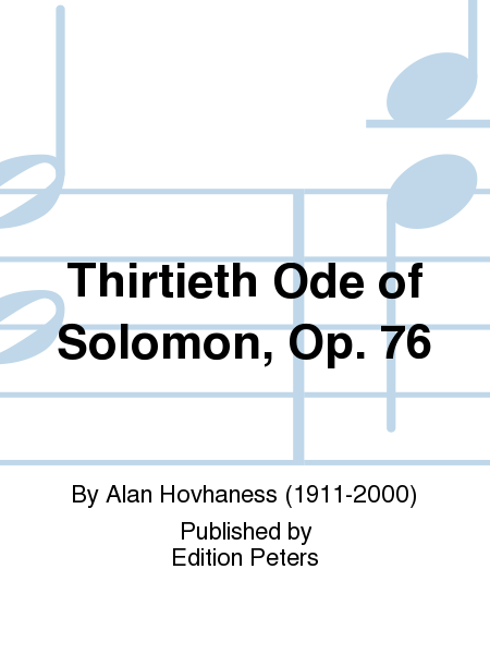 Thirtieth Ode of Solomon, Op. 76