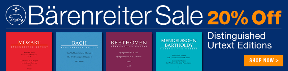 Bärenreiter Sale - Save 20% on Bärereiter Music!