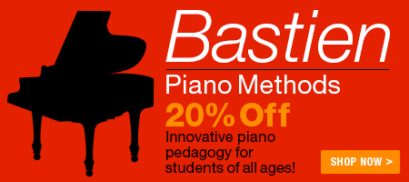 Bastien Piano Methods Sale - 20% off Bastien piano methods!