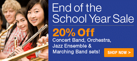 End of the School Year Sale - 20% off thousands of concert band, orchestra, jazz ensemble, and marching band sheet music titles!