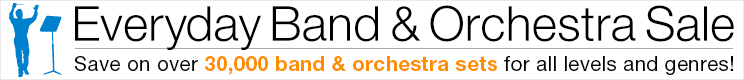 Save 8% on band & orchestra sets!