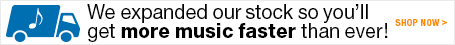 We expanded our stock so you'll get more music faster than ever!