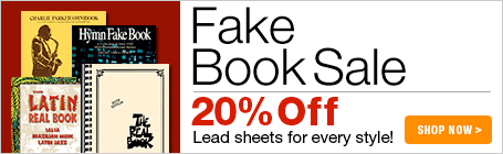 Fake Book Sale - 20% off leadsheets for every style!