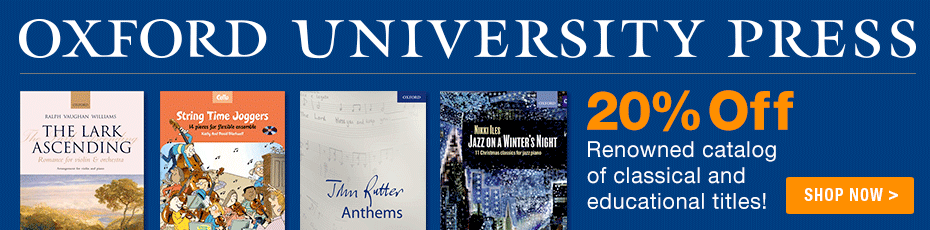 Oxford University Press Sale - Save 20% on Oxford University Press Music!