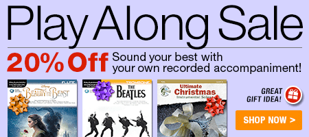 Summer Play Along Sale - 20% off - Sound your best with your own recorded accompaniment!