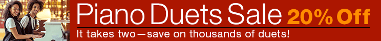 20% Off Piano Duets!