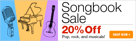 Songbook Sale - 20% off pop, rock & musicals!